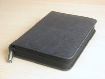 ЧЕХОЛ НА БИБЛИЮ. Синий цвет, кож. зам. полиуретан, пластик, молния /разные размеры/