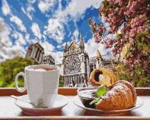 """КАРТИНА ПО НОМЕРАМ. """"Завтрак во французском стиле"""" /40х50/"""