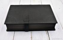 БИБЛИЯ ЭЛИТНАЯ. Большой формат, черный цвет, ручная работа, обрез искусственно состарен, натуральная кожа, эксклюзивный дизайн /подарочное издание/