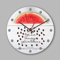 """Часы настенные из дерева: """"Время Господу действовать"""" №2"""