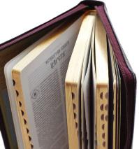 БИБЛИЯ 047 DC Z TI Вишневая, неканоническая, синодальный перевод, зол. обрез, индексы, молния /120х165/