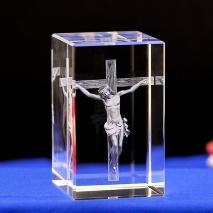 3D Кристалл с лазерной гравировкой: «РАСПЯТИЕ»