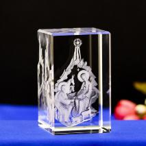 3D Кристалл с лазерной гравировкой: «РОЖДЕНИЕ СПАСИТЕЛЯ»