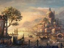 """КАРТИНА ПО НОМЕРАМ PAINTBOY """"Венецианские гондолы"""" /40х50/"""