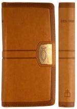 БИБЛИЯ 045 YZTIC Cветло-коричневый цвет, молния, индексы, экокожа, золотой срез, закладка, словарь /185х95/