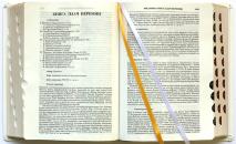 """БИБЛИЯ С КОММЕНТАРИЯМИ. """"Полноценная жизнь"""" /белый, кожаный переплет, золотой обрез, индексы, закладки/"""