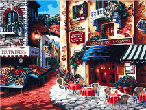"""КАРТИНА ПО НОМЕРАМ PAINTBOY """"Итальянское кафе"""" /40х50/"""