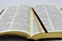 БИБЛИЯ ГЕЦЕ. 065 формат. Оливковая ветвь, кожа, прошитая, золотой срез, цвет коричневый /155х230/