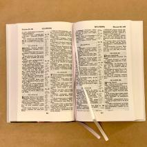 БИБЛИЯ 055 Твердый переплет, ромашки, параллельные места, крупный шрифт /140х213 мм/