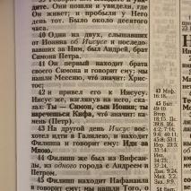 БИБЛИЯ 055 Твердый переплет, орел, параллельные места, крупный шрифт /140х213 мм/