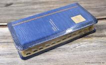 БИБЛИЯ 045 YTIA Темно-голубой, индексы, экокожа, золотой срез, закладка, словарь /185х95/