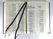 БИБЛИЯ на еврейском и современном русском языках /синий и красный цвет/