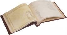 СЕМЕЙНЫЙ ФОТОАЛЬБОМ В СТИЛЕ XIX ВЕКА. Ручная работа, натуральная кожа, дизайнерская бумага. Модель №2 /340х300/