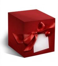 """Подарочная коробка для кружки """"КРАСНОЕ СЕРДЦЕ"""""""